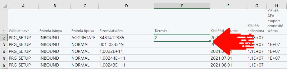 Képlet legörgetése Excelben